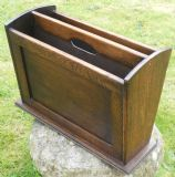 Oak Two Division Magazine Rack / Stand